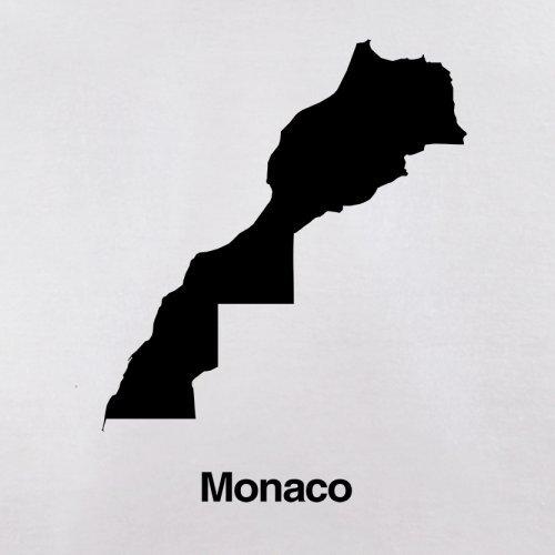 Monaco / Fürstentum Monaco Silhouette - Herren T-Shirt - 13 Farben Weiß