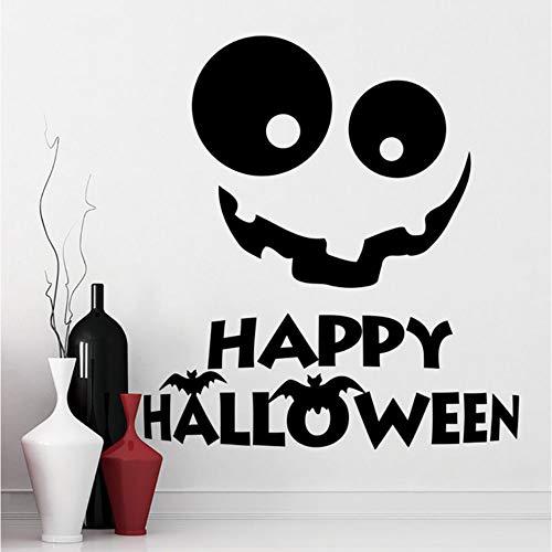 Zxdcd Wandtattoo Halloween Vinyl Wandaufkleber Urlaub Dekor Fenster Wandbild Lächeln Aufkleber Halloween Holiday Home Dekoration Kunst 57x63cm
