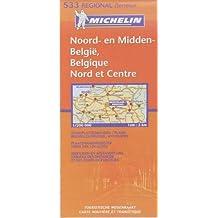 Carte RGIONAL Belgique Nord&Centre / Noord-&Midden Belgi
