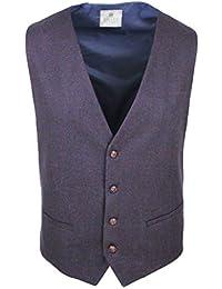 ... 54 risultati in Abbigliamento   Alessandro Gilles. Gilet Panciotto Uomo  Sartoriale Micro Fantasia Blu Bordeaux Invernale in Lana ab8cefe03ea