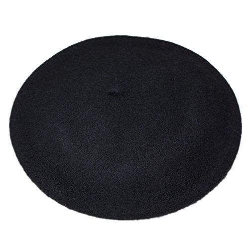 JOYHY Mujer Color Sólido Clásico Estilo Francés Boina Gorro Sombrero