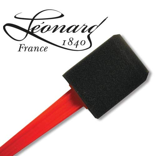 Léonard Pinceau Mousse Noir Plat - 25