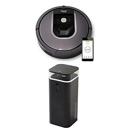 IRobot Roomba 960 Saugroboter, App-Steuerung (hohe Reinigungsleistung, keine Verhedderungen und mit Dirt Detect, WLAN-fähig) silber + Dual Mode  Virtual Wall (2 Modi für Roomba Begrenzung) schwarz