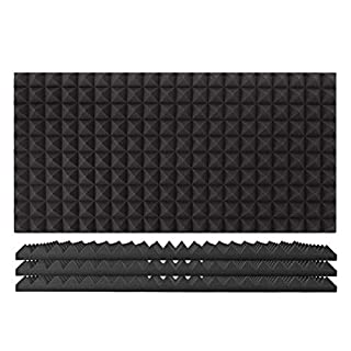 AcouFoam 100x50cm Acoustic Panel by Gear4music Pack of 4