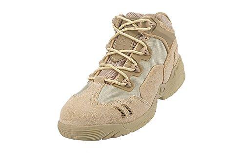 Suetar Scarpe da Trekking Militari Traspirante Scarpe da Escursionismo da Tattica Professionali Impermeabili Antiscivolo LowKhaki
