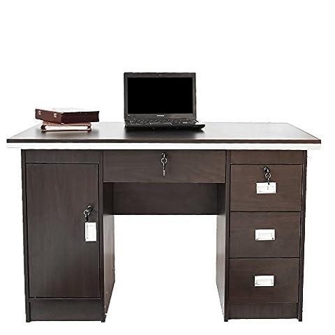 Tuff Concepts Modern Home Office Desk Corner Computer PC Table Worksation (120*60*75 cm, Walnut)