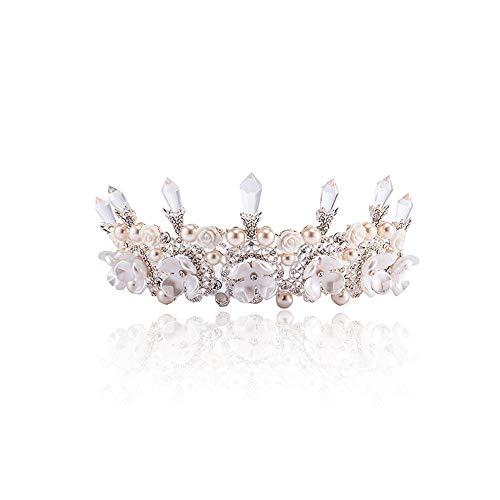 auvwxyz Diademe Braut-Tiara Große Krone Barock Handgefertigte Super-Fee Hochzeitsschmuck Zubehör