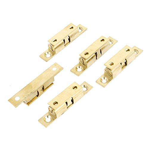 sourcingmap 60mm lang Schrank Tür Messing Doppelkugelschnäpper Roller Fang Riegel 5 Stück Schrank Tür Roller Fang