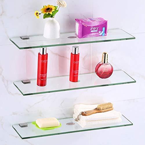XPbja Mini Glas Regal, 1 Schicht 2 Schicht 3 Schichten Badezimmer Dusche Bohren Ablage Regal (Color : 3 Layers, Size : 20cm) - 2 Regal Glas Regal