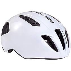 HK-Kensolng Bontrager Team Casco de Bicicleta Aero Casco de Bicicleta para Hombres/Mujeres Casco de Ciclismo Ultraligero TT Triatlón Casco Ciclismo White M