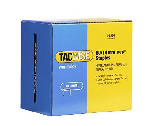 Tacwise 0385 Boîte de 10000 Agrafes galvanisées 14 mm Type 80