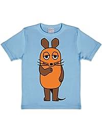 Die Sendung mit der Maus - Die Maus T-Shirt Kinder - hellblau - Lizenziertes Originaldesign - LOGOSHIRT