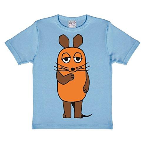 Logoshirt Die Sendung mit der Maus - Die Maus T-Shirt Kinder - hellblau - Lizenziertes Originaldesign, Größe 80/86, 18 ()