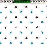 Sterne Türkis Grau 100% Baumwolle Baumwollstoff Kinderstoff Meterware Handwerken Nähen Stoff Tiermotiv 100x160cm 1 Meter (Sterne Weiß Türkis Grau)