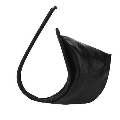 iEFiEL C-String für Herren Männer String Tanga Micro Mini Bikini Slip Unterwäsche Wetlook schwarz Shorts Dessous Schwarz One Size