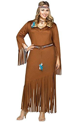Indian Summer Plus Größe XL Damen Fancy Kleid Western Erwachsene Damen Kostüm New, 124135X1 (Size Plus Kostüme World Fun)