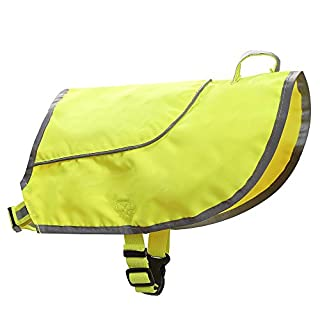 Radiancy Inc AYKRM dogs rain coat Hi Visibility Dog Vest Dog Safety Vest double-deck rain dog vest dog coats (34)