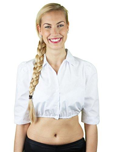 Stützle Dirndbluse Hemdkragen weiß Weiß