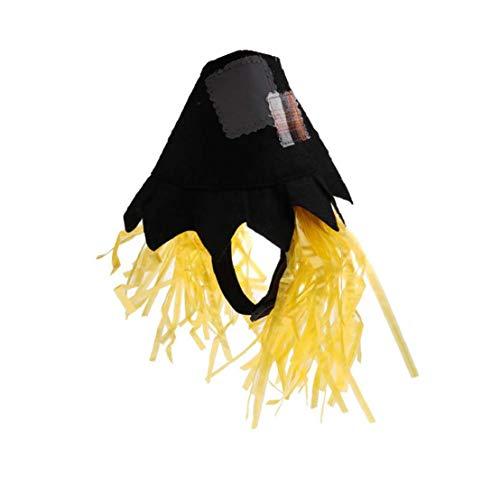 TDlmfRDi Scarecrow Haustier-Hut-Halloween-Katze-Haustier Kopfbedeckung Haustier-Kostüm-Partei Cosplay Zubehör Für Haustier Hund Katze Schwarz (Einfach Scarecrow Kostüm)