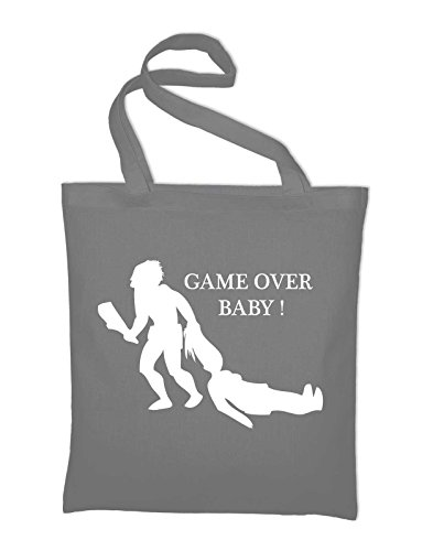 #2 Game Of Over Jutebeutel, Beutel, Stoffbeutel, Baumwolltasche, gelb Light Grey