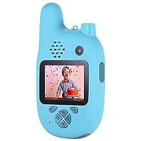 كاميرا أطفال مع جهاز واكي توكي، Andoer 8MP كاميرا فيديو للأطفال بعدسات مزدوجة 2. 0 بوصة IPS وضع التركيز التلقائي للموسيقى ووضع اللعب للبنين والبنات والأطفال (أزرق)