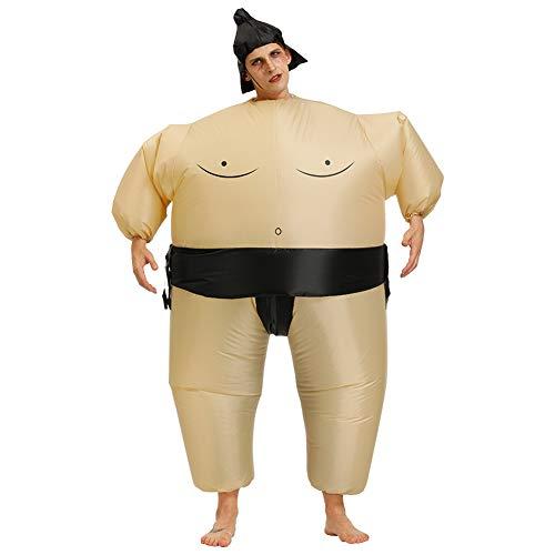 MOTOULAX Disfraz de Sumo Inflable, Disfraz Inflable Sumo Wrestler Air Blow-up Disfraz de Halloween Sumo Wrestler Disfraz de Halloween Talla única