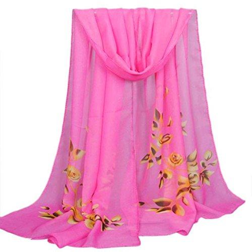 Internet Femmes Wrap doux longue écharpe Mesdames châle mousseline de soie foulards Motif de fleurs 160*50CM Internet_8810