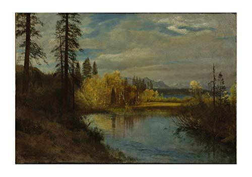 Spiffing Prints Albert Bierstadt - Outlet at Lake Tahoe - Extra Large - Matte - Framed
