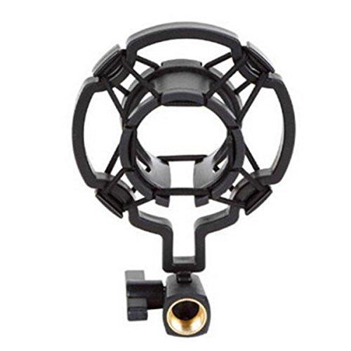 LC Prime® Microphone Shock Mount Clip Holder Studio Sound Recording For Condenser MIC Mike plastica black 1
