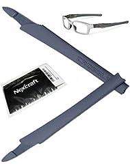 NexCraft Funda de goma de Unobtainium para patillas de gafas Oakley Crosslink de repuesto para modelos Switch Pro Sweep Eyewear OX8027 OX8029 OX8030 OX8031 OX8033 OX3128 OX3149 graduadas, gris