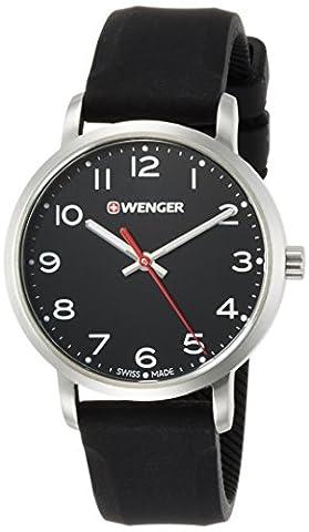 Wenger Womens avenue noir bracelet en silicone 01.1621.101