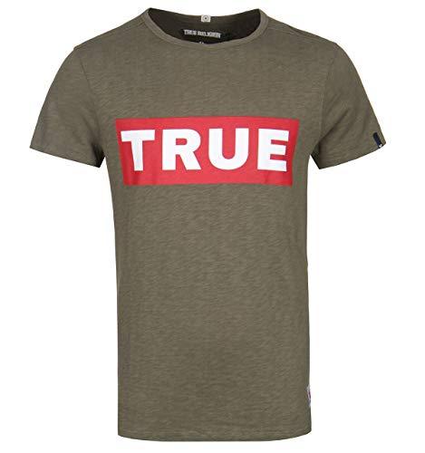 True Religion Block True Olive Logo Tee - XXL