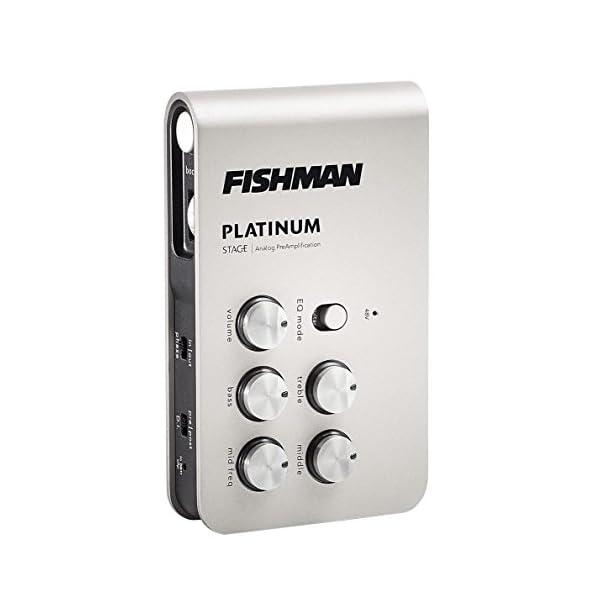 Fishman PLT301 - Preamplificatore per strumento acustico, colore: grigio