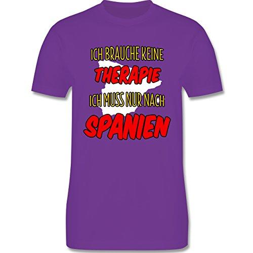 Länder - Ich brauche keine Therapie ich muss nur nach Spanien - Herren Premium T-Shirt Lila