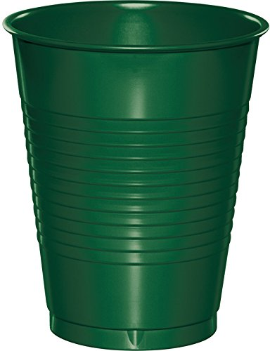 Creative Converting 28312481 Touch of Color Premium Plastic Cups Supplies Party-Zubehör, plastik, hunter green - Green-zubehör Hunter