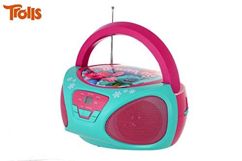 Kinder CD-Spieler für Kinder Boombox-Musikspieler (Trolls)