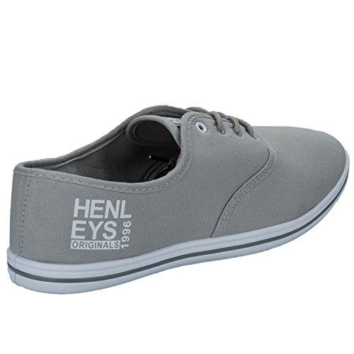 Henleys Chaussures Plates Toile, Baskets, Chaussures, Tennis Gris