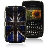 Mocca Design Strass Coque pour BlackBerry 8520 Drapeau d'Angleterre