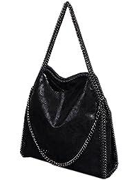 suchergebnis auf f r schwarze tasche mit ketten schuhe handtaschen. Black Bedroom Furniture Sets. Home Design Ideas