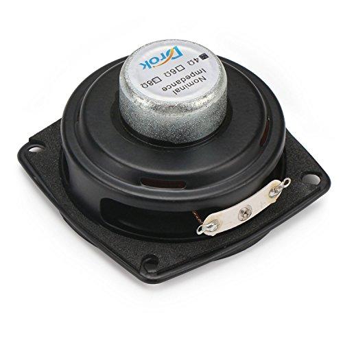 DROK® 2,25-Zoll-10W HiFi Full Range Lautsprecher, 8Ω Startseite Woofer Stereo-Lautsprecher mit 87dB hohe Empfindlichkeit, Wolle Kegel Neodym-Magnet-Lautsprecher geeignet für 2.0 Mini Box / 2.1 Satelliten-Lautsprecher / Sound Column