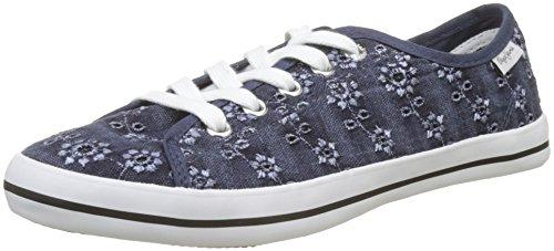 Pepe Jeans London Gery Anglaise, Scarpe da Ginnastica Basse Donna Blu (Naval Blue)