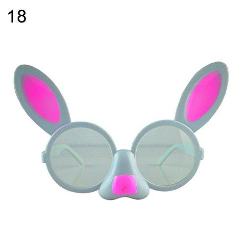 Le yi Wang You San Bodhi® Weihnachts-Halloween-Brille mit Fledermaus-Händen, Kuchen, Augenbrauen, Maskenball, Kostüm, Party, Dekoration, Plastik, 18#