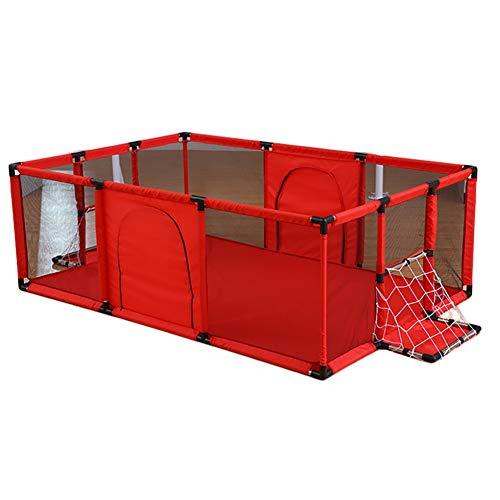 Parque de Juegos Juegue portátil para bebés de Yard con la Caja de fútbol, Centro de Actividades para niños, área de Seguridad para Interiores, área de Juegos para niños
