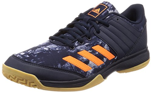 adidas Herren Ligra 5 Volleyballschuhe, Blau (Legend Ink/Hi-RES Orange/Grey Two), 46 EU (Volleyball Herren Schuhe Adidas)