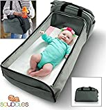 Scuddles- 3-1| Portable Bassinet | for Baby | Foldable Baby Bed | Travel Bassinet Functions As A Diaper Bag and Changing Station, Easy Folding for Travel