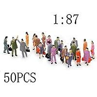 LACKINGONE 50 piezas 1:87 Sand Table Model Villain Painted Model Train People Figuras Escala