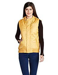 Allen Solly Womens Jacket (AWJK515C00541_Ochre_M)