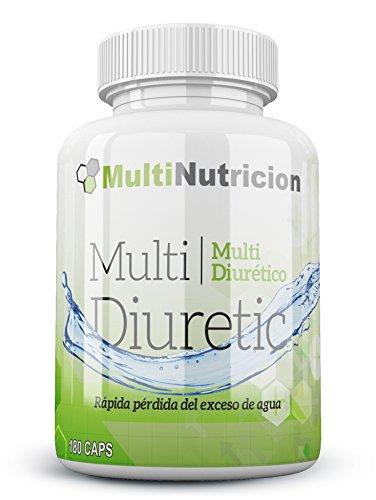 Multi Diuretic mit Vitamin B6-Fettverbrenner-Natürliches Diuretikum-antioxindante Gesundheit des Harnsystem |100% und vegetal| 180Kapseln. -