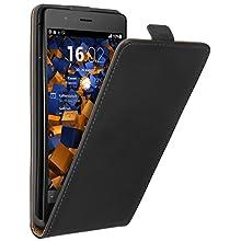 mumbi PREMIUM Etui à clapet pour Huawei P9 Lite - Étui de protection à rabat Flip Style noir