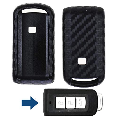 Carbon Soft Case Schutz Hülle Auto Keyless Schlüssel für Mitsubishi ASX Pajero Outlander Eclipse L200 Lancer - Eclipse Schlüssel
